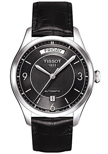 Herren Armbanduhr XL Analog Automatik Leder T038 430 16 057 00