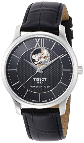 TISSOT OROLOGIO TRADITION AUTOMATIC OPEN HEART ACCIAIO T063 907 16 058 00