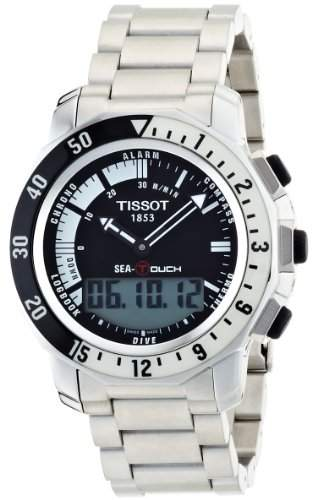 Tissot Unisex SEA-TOUCH Watch In Meters -White T0264201105100