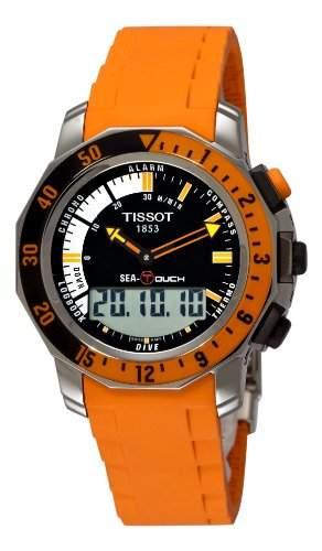 Tissot Herren-Armbanduhr XL Sea-Touch Analog - Digital Quarz Kautschuk T0264201728102