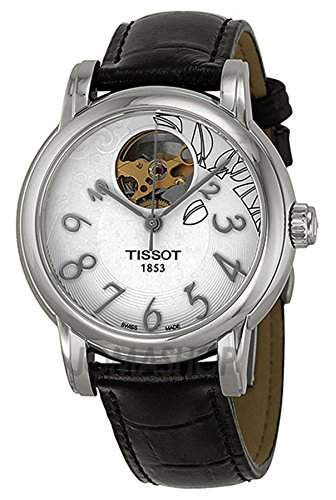TISSOT T-CLASSIC WOMENS STAINLESS STEEL CASE BLACK LEATHER UHR T0502071603200