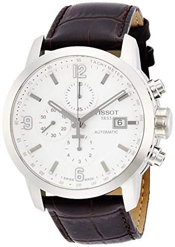Tissot Herren-Armbanduhr Chronograph Automatik Leder T0554271601700