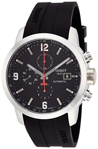 Tissot Herren-Armbanduhr Chronograph Schwarz Automatik Datum T0554271705700
