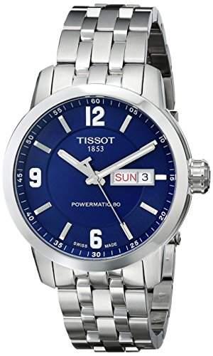 Herren-Armbanduhr XL Analog Automatik Edelstahl T0554301104700