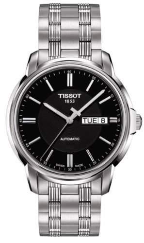 Herren-Armbanduhr XL Analog Automatik Edelstahl T0654301105100