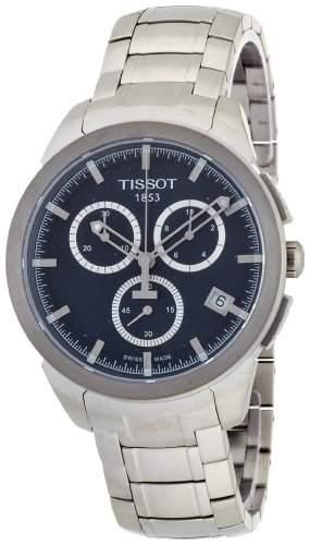 Tissot Herren-Armbanduhr XL Titanium Chronograph Quarz Titan T0694174404100