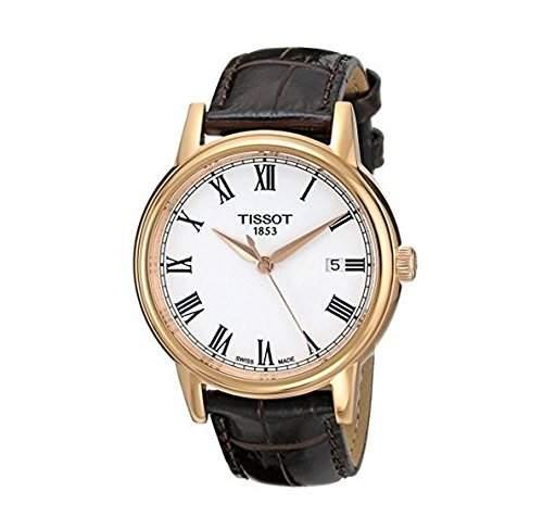 Herren-Armbanduhr XL Analog Quarz Leder T0854103601300