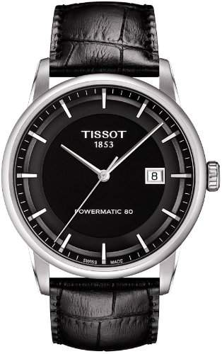 Tissot Herren-Armbanduhr Analog Automatik Leder T0864071605100