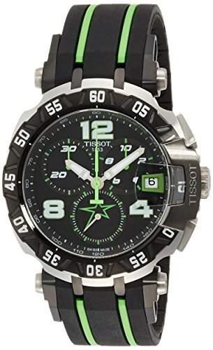 Tissot Herren-Armbanduhr Armband Kautschuk Gehaeuse Edelstahl Schweizer Quarz Chronograph T0924172705701