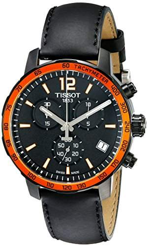 Tissot Quickster Herren-Armbanduhr 42mm Armband Leder Schwarz Saphirglas Batterie T0954173605701