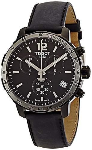 Tissot Herren-Armbanduhr Chronograph Quarz Leder T0954173605702