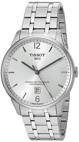 Tissot Herren-Armbanduhr Armband Edelstahl + Gehaeuse Automatik Zifferblatt Silber Analog T0994071103700