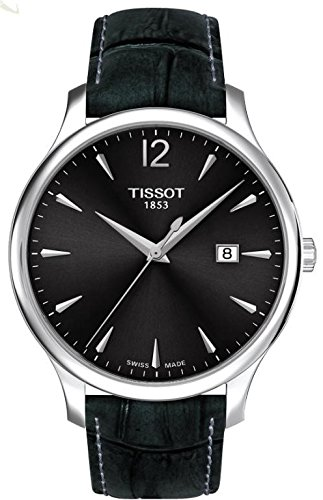 Tissot 42mm Armband Leder Grau Quarz Analog T0636101608700