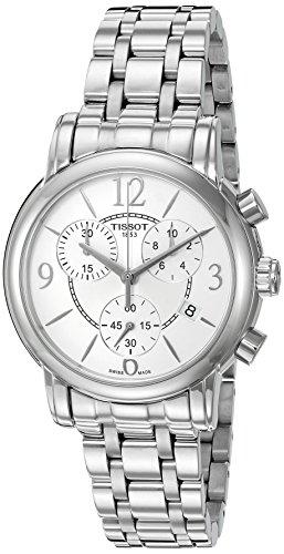 Tissot 35mm Armband Leder Weiss Gehaeuse Edelstahl Schweizer Quarz T0502171101700