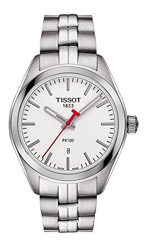 Tissot Armband Edelstahl Gehaeuse Schweizer Quarz Zifferblatt Silber T1012101103100