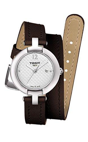 Tissot 28mm Armband Kalbsleder Braun Gehaeuse Edelstahl Schweizer Quarz T0842101601703