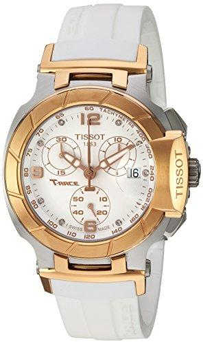 Tissot Armband Kautschuk Gehaeuse Goldfarbenes Edelstahl Schweizer Quarz T0482172701601
