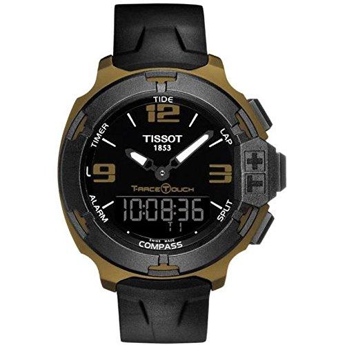 Tissot T Race Touch 42mm Armband Silikon Schwarz Schweizer Quarz T081 420 97 057 06