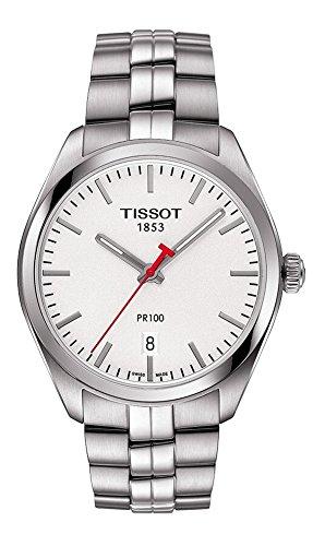 Tissot Armband Edelstahl Gehaeuse Schweizer Quarz Zifferblatt Silber T1014101103101