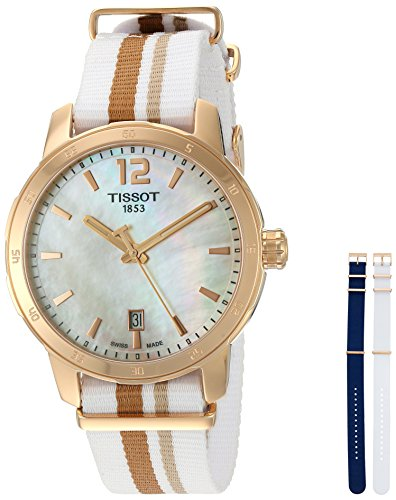 Tissot 40mm Armband Nylon Multicolor Saphirglas Schweizer Quarz T095 410 37 117 00