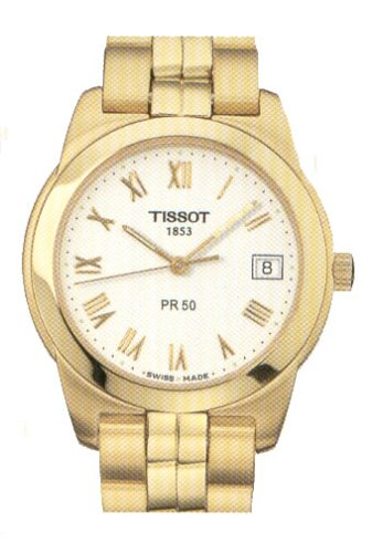 Tissot Herren Armbanduhr XL PR 50 Analog Quarz Edelstahl T34 5 481 13