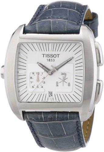 Tissot Herren Armbanduhr T Trend Bascule Chronograph Quarz Leder T92 1 536 31