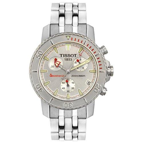 Tissot Mens Seastar Chronograph Silver