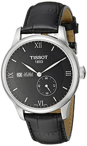 Tissot Herren t0064281605800 Le Locle Analog Swiss Automatische schwarz Alligator Leder Armbanduhr
