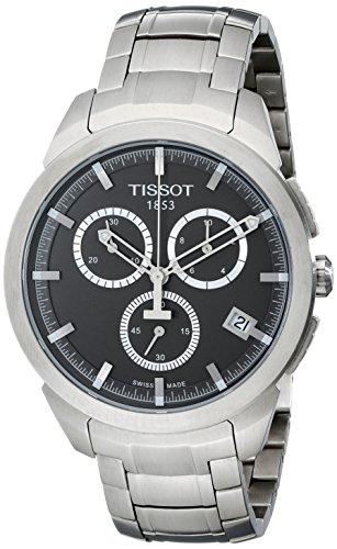 TISSOT T069 417 44 061 00 Chronograph Uhr Titan 100m Analog Chrono Datum silber