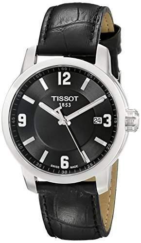 Tissot Herren-Armbanduhr Analog Quarz Leder T0554101605700