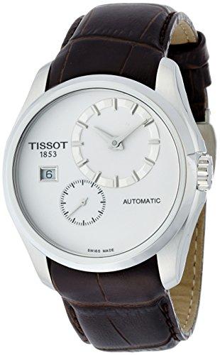 Uhr Automatik Edelstahl Leder silber
