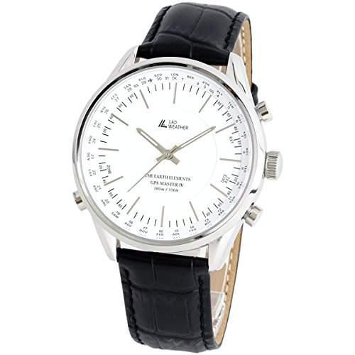 LAD WEATHER GPS Einheiten Uhren Armbanduhren Manuell Auto 100 Meter wasserdicht 30 Zeitzone Breite Einfache Einstellung lad022 bk2 eu