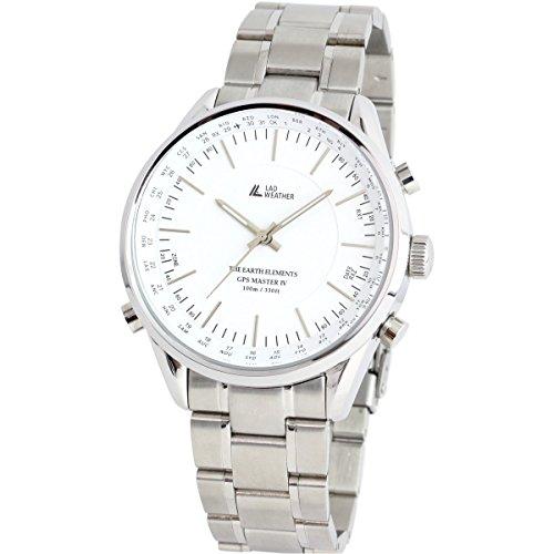 LAD WEATHER GPS Einheiten Uhren Armbanduhren Manuell Auto 100 Meter wasserdicht 30 Zeitzone Breite Einfache Einstellung lad022 wh1 eu