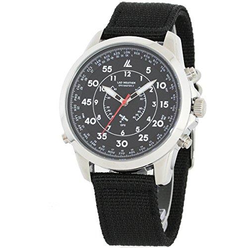 LAD WEATHER GPS Militaer Uhr 100 Meter wasserdicht 30 Zeitzone Breite Einfache Einstellung NATO Buegel Armbanduhren
