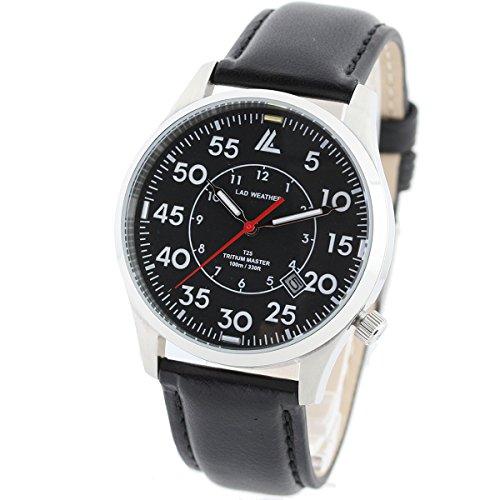 LAD WEATHER Schweizer Tritium Herren Outdoor Aktivitaeten Beilaeufig Nachtzeit Militaer Uhr Armbanduhren