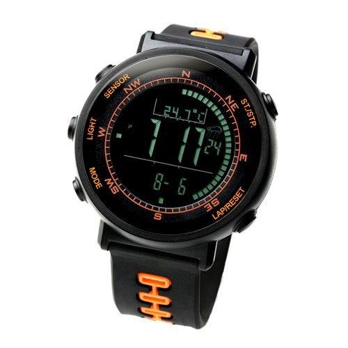 Lad Weather Sensor Schweizer Digitaler Hoehenmesser Barometer Kompass Thermometer Wettervorhersage Laufen Bergsteigen A Fuesse Armbanduhr