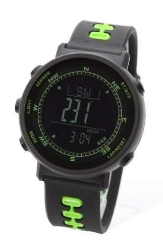 LAD WEATHER Swiss-Sensor Chronograph digitaler Kompass Outdoor Hoehenmesser Barometer Thermometer Sport Wettervorhersage Laufen Bergsteigen Wandern uhren Armbanduhren