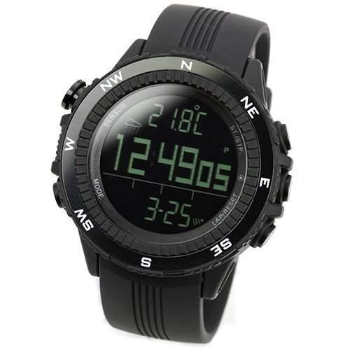 Lad Weather Deutsch Sensor digitaler Kompass Hoehenmesser Barometer Chronograph Wettervorhersage Outdoor-Uhr Uhren Armbanduhr Sport-Uhr Bergsteigen laufen Herren