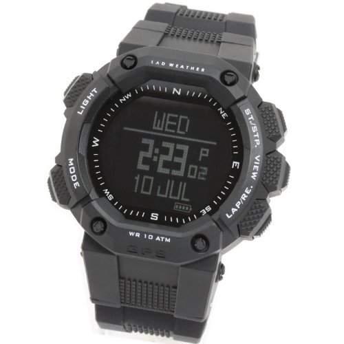 LAD WEATHER GPS Pulsmesser Chronograph Hoehenmesser Digitaler Kompass Kalorienzaehler Kilometerzaehler USB-Anschluss Navigation Sportuhr Armbanduhren