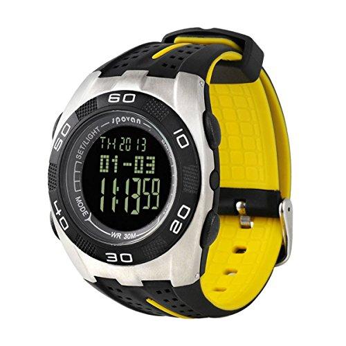 Foxnovo Spovan Multifunktions Sport Multifunktions digitale Armbanduhr schwarz