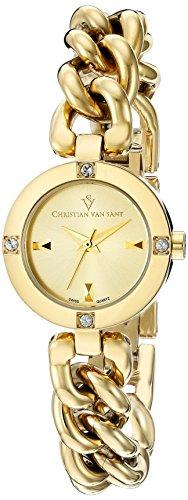 Christian Van Sant Damen cv0215 Schwuel Analog Display Swiss Quarz Gold Armbanduhr