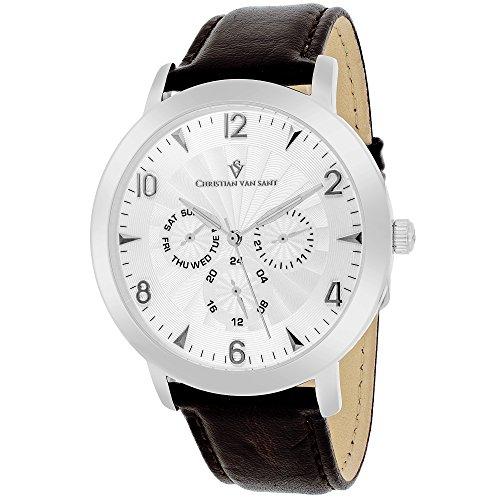 Christian Van Sant Herren cv3513 Analog Anzeige Quarz Braun Armbanduhr