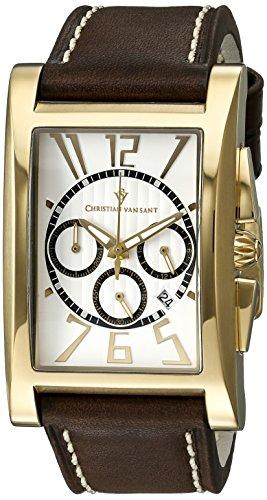 Christian Van Sant Herren cv4513 Analog Anzeige Quarz Braun Armbanduhr