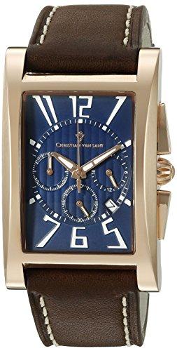 Christian Van Sant Herren cv4514 Analog Anzeige Quarz Braun Armbanduhr