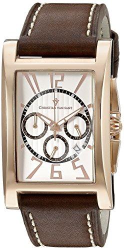 Christian Van Sant Herren cv4515 Analog Anzeige Quarz Braun Armbanduhr