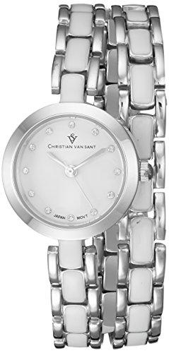 Christian Van Sant Damen cv5610 Analog Display Quarz Zweifarbige Armbanduhr