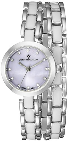 Christian Van Sant Damen cv5611 Analog Display Quarz Zweifarbige Armbanduhr