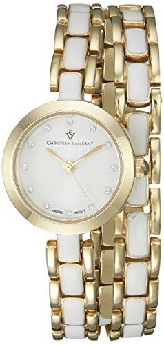 Christian Van Sant Damen cv5612 Analog Display Quarz Zweifarbige Armbanduhr