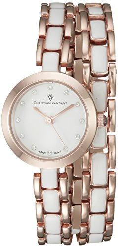 Christian Van Sant Damen cv5613 Analog Display Quarz Zweifarbige Armbanduhr