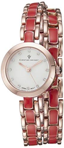 Christian Van Sant Damen cv5614 Analog Display Quarz Zweifarbige Armbanduhr